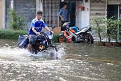 Flooding in Bangkok, Thailand Stock Photography