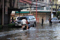 Flooding in Bangkok, Thailand Royalty Free Stock Photography