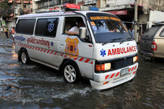 Flooding in Bangkok, Thailand Stock Images