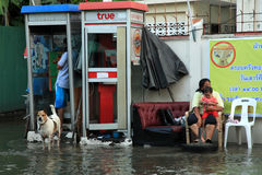 Flooding in Bangkok, Thailand Royalty Free Stock Photo