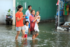 Flooding in Bangkok, Thailand Stock Photos