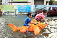 Flooding in Bangkok, Thailand Stock Photos