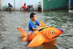 Flooding in Bangkok, Thailand Stock Photography