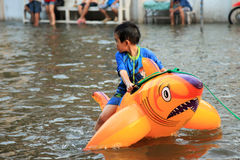 Flooding in Bangkok, Thailand Royalty Free Stock Photos