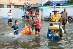 Flooding in Bangkok, Thailand Stock Image