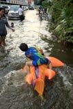 Flooding in Bangkok, Thailand Stock Images