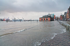 Flooding caused by storm Xaver  Stock Photography
