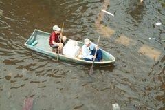 Flooding crisis in Thailand Royalty Free Stock Photos