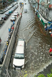 Flooding crisis in Thailand Stock Photo
