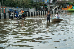 Flooding crisis in Thailand Stock Photography