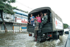 Flooding crisis in Thailand Royalty Free Stock Photos