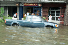 Flooding crisis in Thailand Stock Photos