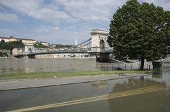 The flooding of the danube in Budapest Royalty Free Stock Images