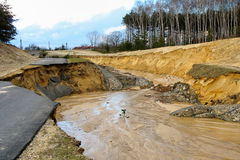 Flooding and destruction. Spring time Royalty Free Stock Photo