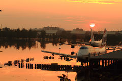Flooding Donmaung Airport Bangkok Royalty Free Stock Images