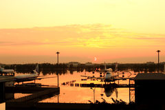 Flooding Donmaung Airport Bangkok Stock Images