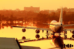 Flooding Donmaung Airport Bangkok Royalty Free Stock Photography