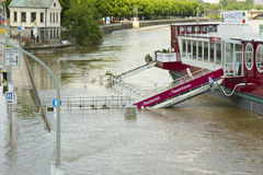 Flooding in Dresden, Germany Royalty Free Stock Photography