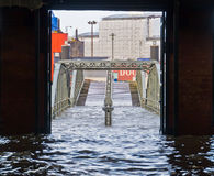 Flooding due to storm Xaver Royalty Free Stock Photography