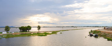 Flooding field in Mekong Delta Stock Images