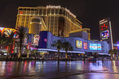 Flooding in front of Planet Hollywood in Las Vegas, NV on July 1 Stock Images