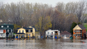 Flooding in Gatineau, Quebec, Canada Royalty Free Stock Image