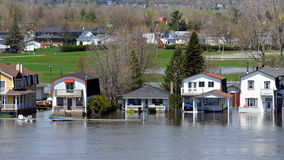 Flooding in Gatineau, Quebec, Canada Royalty Free Stock Photo