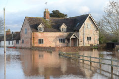 Flooding in Gloucestershire. The flooding in Febuary 2014 in Gloucestershire, UK Royalty Free Stock Image