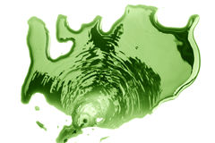 Flooding green India ink Stock Photography