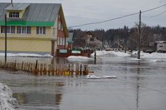 Flooding of homes Stock Images