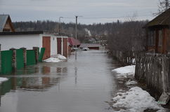 Flooding of homes Stock Photography