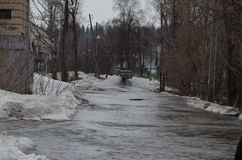 Flooding of homes stock image