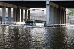 Flooding i Bangkok. Arkivbild