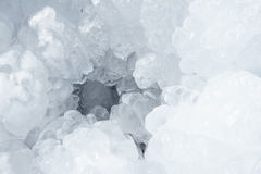 Flooding ice. The close-up of flooding ice stock image