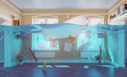 Flooding interio Stock Photo