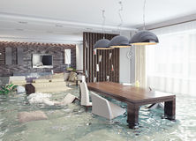 Flooding  interior Royalty Free Stock Images