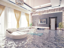 Flooding  interior Royalty Free Stock Photos