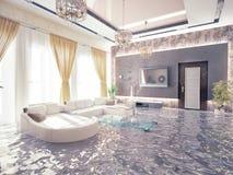 Flooding  interior Royalty Free Stock Photos