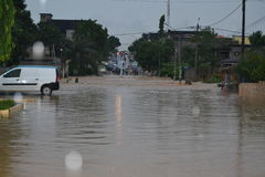 FLOODING IN IVORY COAST Royalty Free Stock Photos