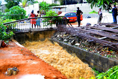 FLOODING IN IVORY COAST Royalty Free Stock Images