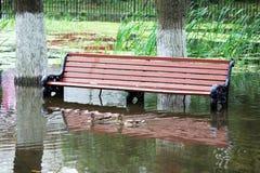 The flooding of the lake Stock Photos