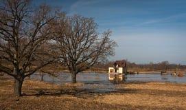 Flooding in latvia Stock Photos