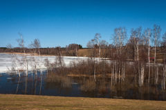 Flooding in latvia Royalty Free Stock Images