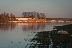 Flooding in latvia Royalty Free Stock Photo