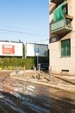 Flooding milan Royalty Free Stock Image