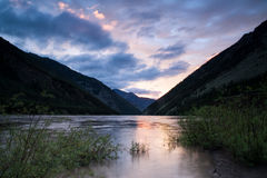 Flooding in a mountain river. Indigirka River. Yakutia. Russia Royalty Free Stock Image