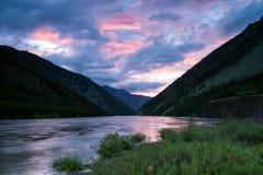 Flooding in a mountain river. Indigirka River. Yakutia. Russia Royalty Free Stock Photo