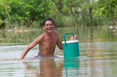 Flooding in Nakhon Ratchasima, Thailand. Stock Photo