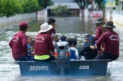 Flooding in Nakhon Ratchasima, Thailand Royalty Free Stock Images