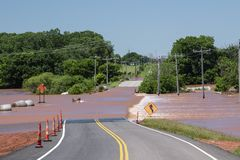 Flooding in Oklahoma royalty free stock photography
